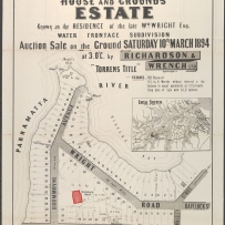 Subdivision plan of Drummoyne House