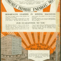 Back cover of catalogue