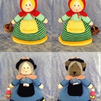Photos of knitted dolls