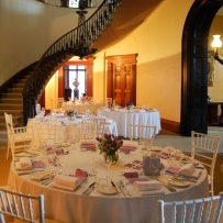 Elizabeth Bay House Hall and Saloon dining setup