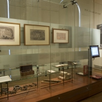 Documentation of Convicts: sites of punishment exhibition showing frames works and objects