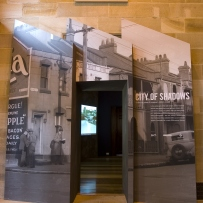 Entrance to the City of shadows exhibition space
