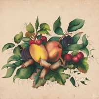 Still life with fruit poonah painting