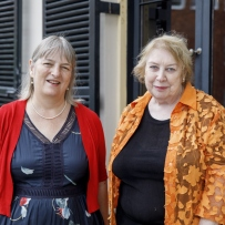 Dr Gillian Dooley, Flinders University, and Leona Geeves, Wagner Society in NSW Inc.