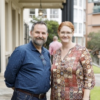 Scott Hill and Beth Hise at symposium 'Sound Heritage Sydney: Making Music in Historic Places', Elizabeth Bay House