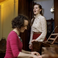 Performing music in the saloon at Elizabeth Bay House