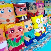 Photo of character patterned pillowcases