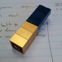 Rare gold LEGO bricks used in the Eureka Tower model