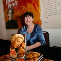 Nerida Campbell, curator of the Femme Fatale exhibition, at the launch