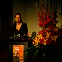 Tara Moss opens the Femme Fatale exhibition launch at the Justice & Police Museum