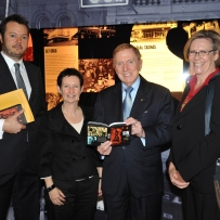 Tim Girling-Butcher, Michael Kirby, Kate Clark and guest at the Sin City Launch