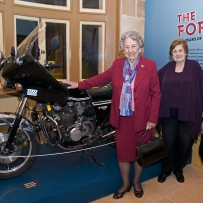 Retired NSW Policewomen, Amy Taylor and Eva Boyd, Hughes at the Justice and Police Museum
