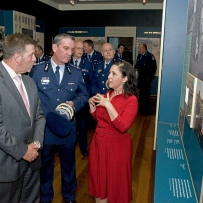 Minister for NSW Police The Hon Michael Gallacher, Commissioner for NSW Police, Andrew Scipione and HHT curator Anna Cossu at the Justice and Police Museum