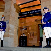 NSW Police Peta Courtney and Mark Trethowan at the Justice and Police Museum