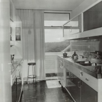 Kitchen in Julian Rose house.