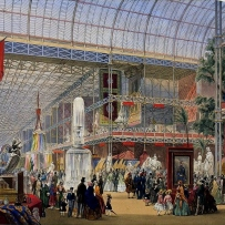 General View, Crystal Palace, lithograph, coloured by hand
