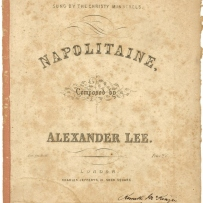 Front page of sheet music book.