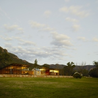 Landscape view of country house in New South Wales
