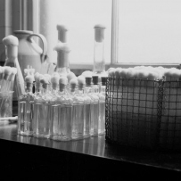 Bottles and test tubes