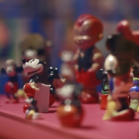 Figurines from the exhibition at the Martin Sharp Launch