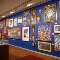 The exhibition space at the Martin Sharp Launch