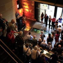 An aerial view of the crowd at An Edwardian Summer launch