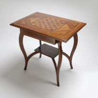Table viewed from side angle.