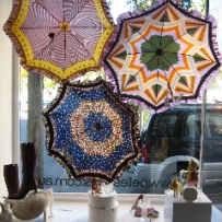 Parasols in shop window
