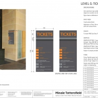 Design and specs for ticketing signage.