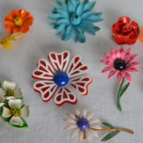 Floral brooches