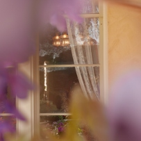 Looking through the wisteria into the Vaucluse House drawing room