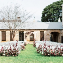 Ceremony set-up on the Sandstone Courtyard