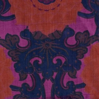 Length of printed silk, Jim Thompson Thailand Silk Co, 1970s