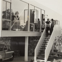 Staircase at the Julian Rose house designed by Harry Seidler