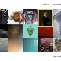 This is a mood board made up of different colours, textures and objects that inspired the design for Celestial City
