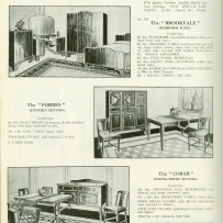 Page from catalogue, with black and white photographs.