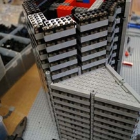 LEGO skyscraper model in progress