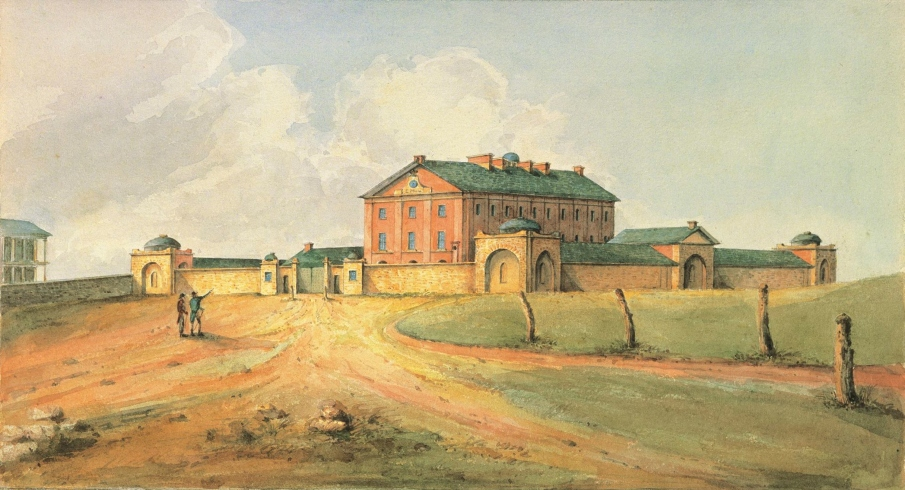 View of Hyde Park Barracks in 1820