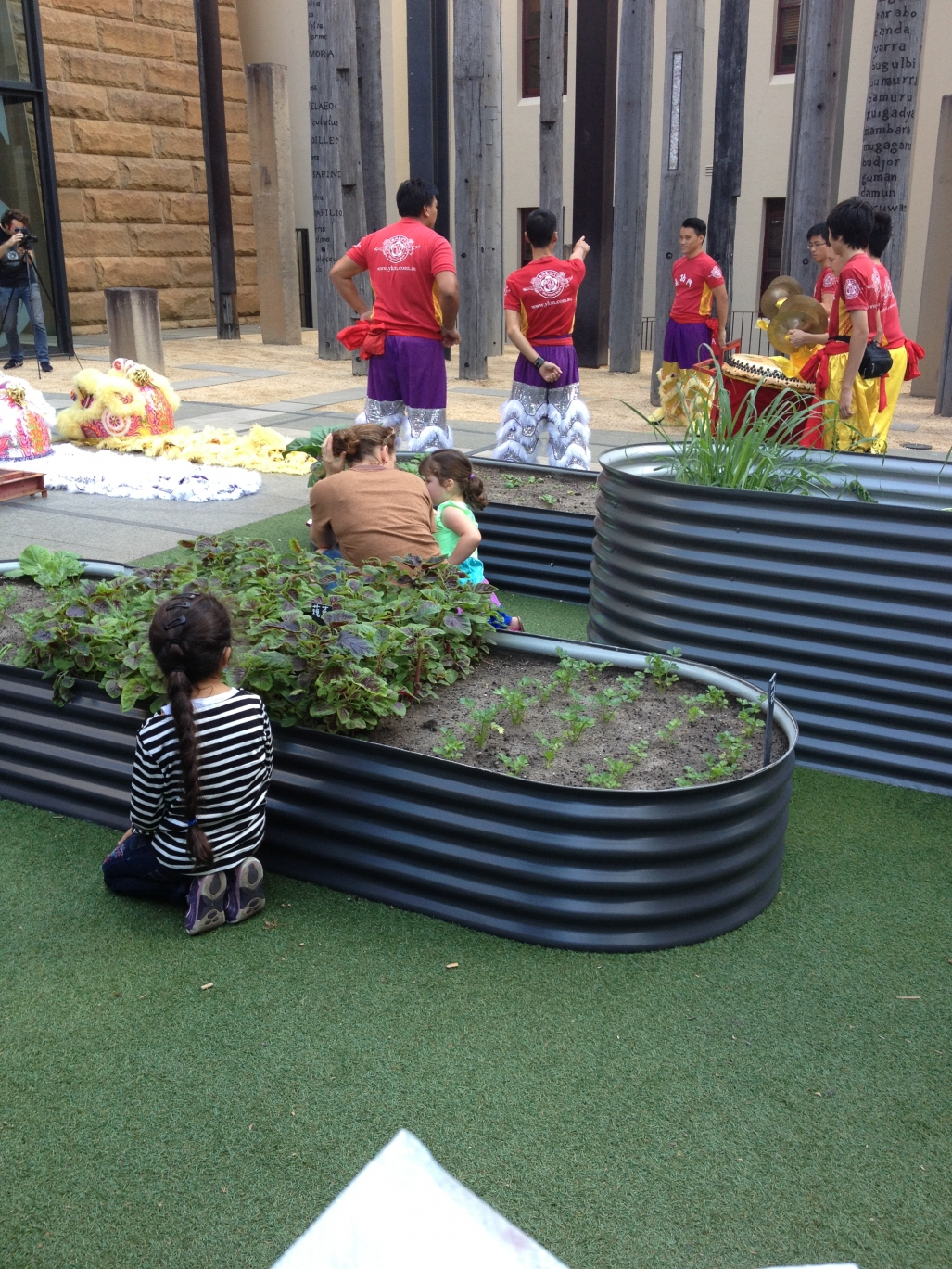 Activities on the forecourt