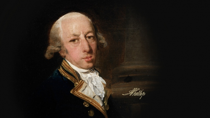 Oil Painting of Arthur Phillip