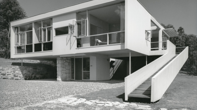 Rose Seidler House, 1950: View from north-west
