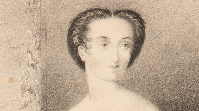 Detail of woman's face.
