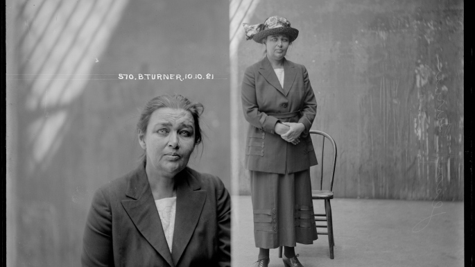 Barbara Turner Taylor, Special photograph number 570, 10 October 1921, probably Central Police Station, Sydney