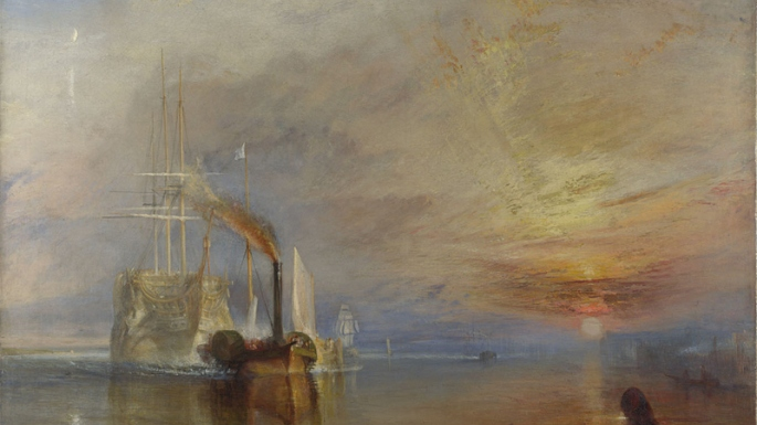 This is a painting of a ship by JMW Turner