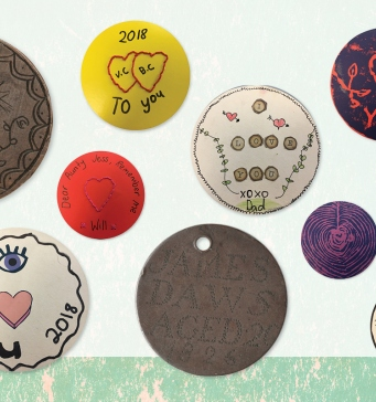 Selection of convict love tokens.