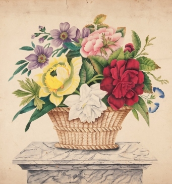 Basket of flowers poonah painting