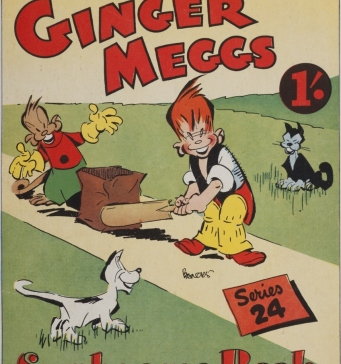 Sunbeams Book Series 24: More Adventures of Ginger Meggs. Cover, 1947.