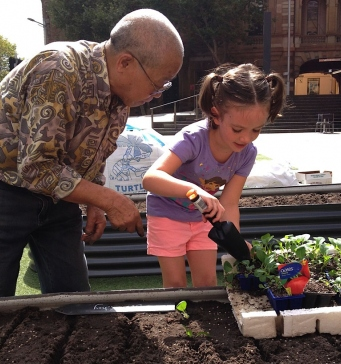Market Gardeners enjoy some time in the mud