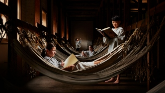 Children in hammocks room.