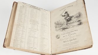 Dowling songbook - pages from a volume of sheet music, 1830s
